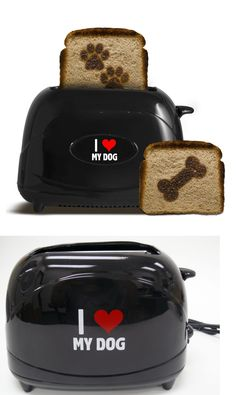 Dog Lover Products 116378: I Love My Dog Toaster Pangea Black W Paw Print And Bone Brand New Nib -> BUY IT NOW ONLY: $35.99 on eBay!