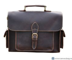 Real Leather Durable Briefcase, Messenger Bag