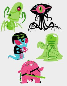 aliens by Dr. Monster, via Flickr