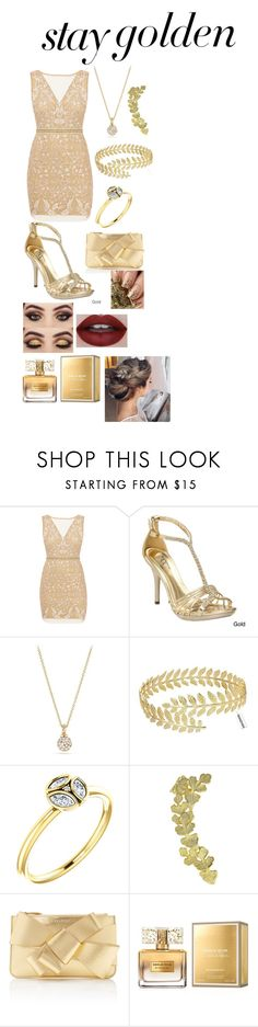 """Golden night out"" by francescabaglio ❤ liked on Polyvore featuring Nicole Miller, Ellie, David Yurman, Joanna Laura Constantine, Delpozo and Givenchy"