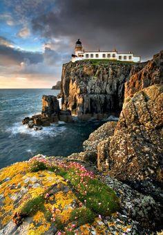 Neist Point Lighthouse - Isle Of Skye, Scotland