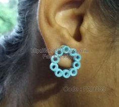 "https://flic.kr/p/zKVj54 | Handmade Jewelry - Paper Quilling Circle Studs (FAH389) (4) | These jewelries  are made out of paper.  These jewelries has been given waterproof coating. Therefore, it is water resist.  My Shop: www.craftsvilla.com/fahcreations  (Note: For those products which are not listed in our shop. Now you can directly by from us by dropping an email at ""fah2305@yahoo.co.in"". Please mention product code and your place so shipping price can be calculated)  For more s..."