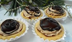 Koňakové košíčky Czech Recipes, Russian Recipes, Recipe Box, Christmas Cookies, Cookie Recipes, Sweet Tooth, Cheesecake, Pudding, Sweets