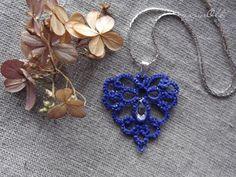 tatting lace, heart, frywolitkowe serduszko