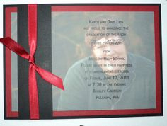 DIY Graduation Invitations (or announcements) This is very simple ...