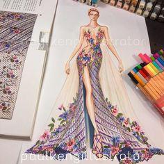 She is beautiful! #love it!!! #fashion #couture #fashiondesign #fashionillustration #illustrator #artist #fashiondesigner #paulkengillustrator #inspiration #batik #indonesia #comingsoon to #jakarta #paulkenginjakarta2017