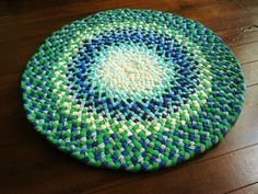 New Kiwi, Royal Blue Braided Rug | Flickr - Photo Sharing!