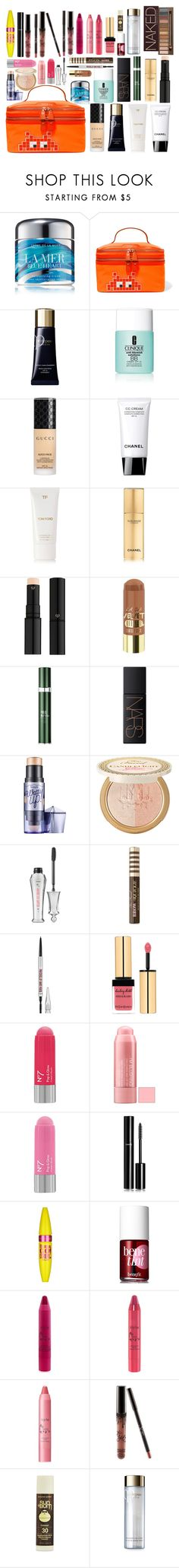 """""""Untitled #498"""" by geanafdlh on Polyvore featuring La Mer, Anya Hindmarch, Clé de Peau Beauté, Clinique, Gucci, Tom Ford, Chanel, RéVive, NARS Cosmetics and Benefit"""