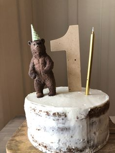 healthy smash cake; first birthday party cake; teddy bear cake for baby