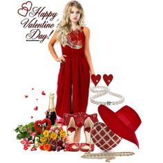 """""""Red Jumpsuit"""" by cavell on Polyvore"""