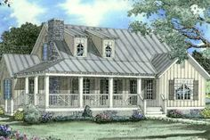 Houseplans.com Bungalow / Craftsman Front Elevation Plan #17-2017