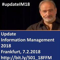 Update Information Management 2018 - Jahresauftaktseminar mit Dr. Ulrich Kampffmeyer & Hanns Köhler-Krüner am 7.2.2018 in Frankfurt #UpdateIM18 #ECM #EIM #ContentServices #Workplace #KI   https://www.xing-events.com/1883753-8302dc93.html