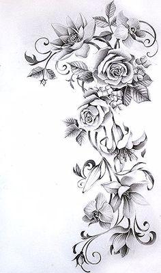 flower sleeve tattoo by Nevaart on DeviantArt Flower Vine Tattoos, Floral Back Tattoos, Tribal Flower Tattoos, Flower Tattoo Arm, Flower Tattoo Shoulder, Animal Tattoos, Forearm Sleeve Tattoos, Best Sleeve Tattoos, Sleeve Tattoos For Women