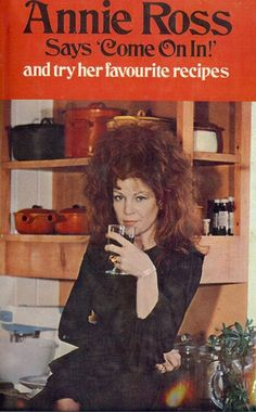 """The Hair Hall of Fame: """"Come On In! - Sorry my hair is a mess. I've been cooking and drinking all day."""" - Sorry, Annie :-D Vintage Book Covers, Vintage Books, Vintage Ads, This Is A Book, Vintage Cookbooks, Retro Recipes, Bad Hair, Pulp Fiction, Messy Hairstyles"""