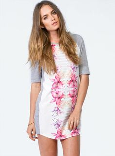 Polly She Knows Floral Print Mini Shift Dress