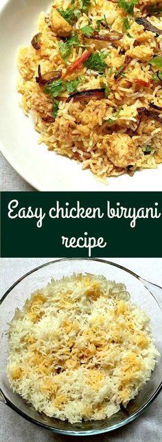 Easy chicken biryani recipe, a great dinner for the whole family.