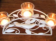 Arched Candle Holder Shabby Chic Cottage by SharetheLoveVintage