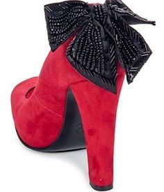 MAGRIT RED SUEDE 'HOLLYWOOD' PEEP TOES