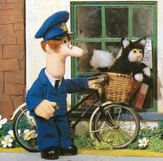Black children Memories - Pictured The real Postman Pat and his ginger and white cat 1980s Childhood, Childhood Tv Shows, My Childhood Memories, Nostalgia, Disney Viejo, Postman Pat, Kids Tv Shows, 2000 Kids Shows, Old Cartoons