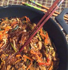 Briciole di Sapori           : Spaghetti di soia, funghi e verdure