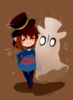 Frisk and Blooky - Undertale - dapper