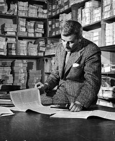 Writer and Nobel Prize laureate William Faulkner