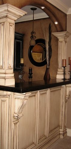 Faux finished cabinets, so doing this to my cabinets!!