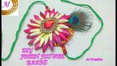 rakhi/DIY fresh flower rakhi/how to make real flower rakhi Rakhi Making, Real Flowers, Fresh, How To Make, Diy, Beautiful, Bricolage, Do It Yourself, Homemade