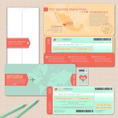 The Theresa Boarding Pass Invitation by AprilTwentyFive on Etsy, $235.75