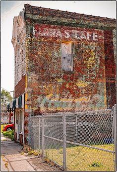 FLORA'S CAFE served Coca-Cola ~ St. Joseph,MO ~ ©2013 Bob Travaglione -.flickr.com/photos/fotoedge/ ~ Or Zenfolio ~ www.FoToEdge.com