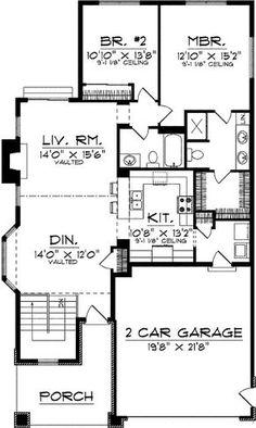24'x38', 838 sq. ft., 2BR, 2bath, laundry room Master bath