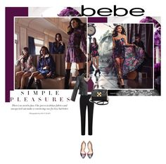 """""""Destination Runway with bebe : Contest Entry"""" by s-thinks ❤ liked on Polyvore featuring Bebe, Paul Smith Black Label and Topshop"""