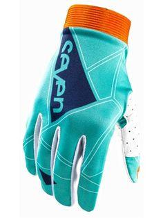 Seven MX Aqua James Bubba Stewart 2014 Zero Geo MX Gloves   Seven MX   FreestyleXtreme