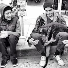 Dylan Rieder & his GSD