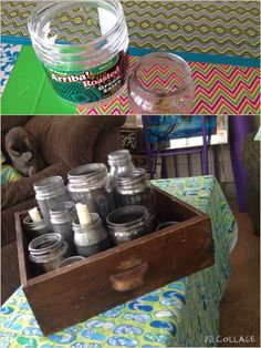 Mercury glass Upcycle= free. Save your glass jars and spray the insides.