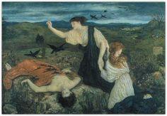 """""""Antigone recouvrant le corps de Polynice"""" de Marie Stillman (1844 –  1927) Les carnets d'Eimelle littérature théâtre voyage: Antigone théâtre et peinture 1"""