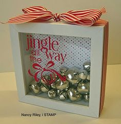 DIY jingle all the way shadow box