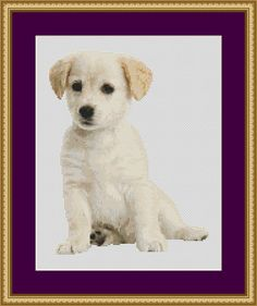 Cute Puppy  Counted Cross Stitch Pattern by PurpleStitching, $5.00