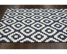 Modern Aztec 100% Wool Contemporary Rug