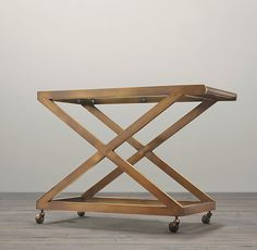 $895 Restoration Hardware 1950s Milo Bar cart