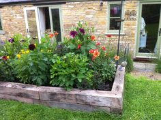 Melisa's raised railway sleeper vegetable bed