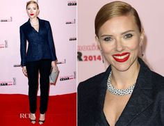 Scarlett Johansson In Christian Dior – Cesar Film Awards 2014