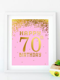 INSTANT DOWNLOAD Happy Birthday 70 Printable 70th birthday