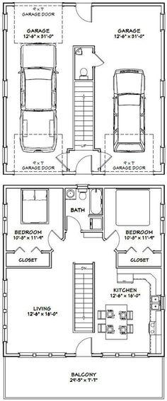30x32 House -- #30X32H1D -- 961 sq ft - Excellent Floor Plans
