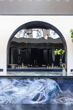 We're spotlighting 38 chic home bar ideas to inspire you. Whether you want to build out a home bar, or just want to turn part of your kitchen counter into one, we've got ideas to help you make it happen below. Home Bar Designs, Cute Kitchen, Bar Ideas, Bars For Home, Beautiful Homes, Home Goods, Lounge, Room Decor, Building