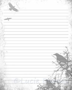 8X10 Resume Paper Enchanting Printable Journal Page Feather Digital Stationery 8 X 10 Jpg .