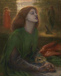 Beata Beatrix. Dante Gabriel Rossetti, 1870. #rossetti #preraphaelite #arthistory