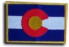 """Colorado - State Rectangular Patch by flagline. $2.50. 2.25"""" x 3.25"""" Rectangular Patch. Our rectangular patches feature each state's flag, and can be sewn on or ironed on. Actual size is approximately 2.25"""" x 3.25""""."""