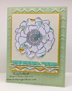 Sneak Peek!! Blended Bloom with Lullaby Designer Series Paper and a How To Video, Stamping to Share, Blended Bloom, Kay Kalthoff