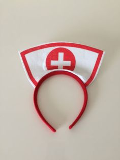 Sexy-Nurse-Headband-Accessory-Cosplay-Fancy-Dress-Party-Costume Homemade Kids Toys, Diy For Kids, Crafts For Kids, Pochette Diy, Hat Template, Costumes For Sale, Diy Costumes, Nurse Hat, Sexy Nurse